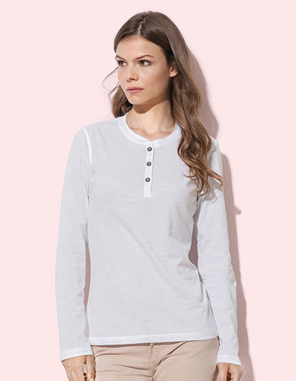 Sharon Henley Long Sleeve for women Stedman® ST9580 - Z długim rękawem