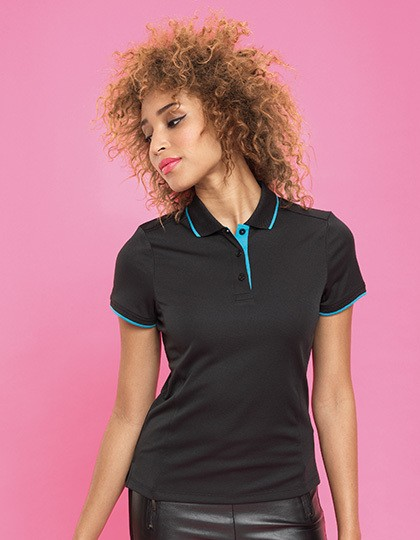 Ladies Contrast Coolchecker Polo Premier Workwear PR619