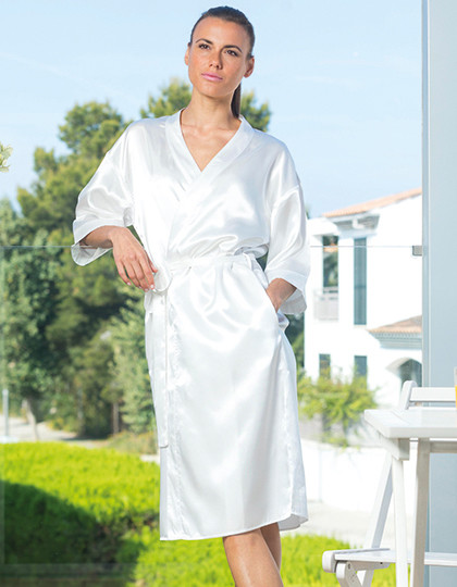 Ladies Satin Robe Towel City TC054 - Szlafroki