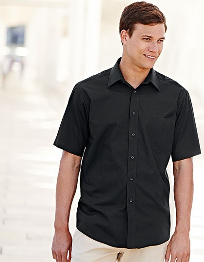 Męski Short Sleeve Poplin Shirt