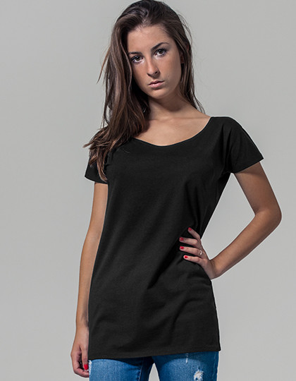 Ladies Wideneck Tee Build Your Brand BY039 - Szeroki dekolt
