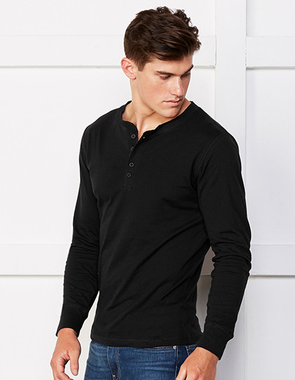 Jersey Long Sleeve Henley Canvas 3150