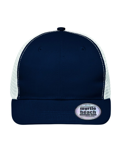 6 Panel Flat Peak Cap Myrtle Beach MB6240