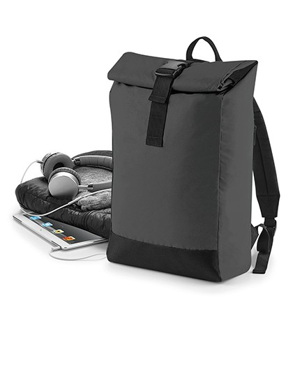 Reflective Roll-Top Backpack BagBase BG138 - Plecaki
