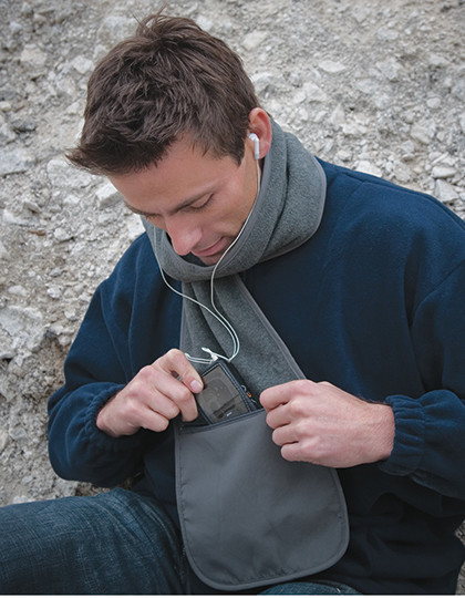 Szal polarowy Zip-Pocket Result Winter Essentials R100X - Szaliki