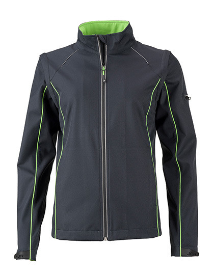 Ladies` Zip-Off Softshell Jacket James&Nicholson JN1121 - Soft-Shell