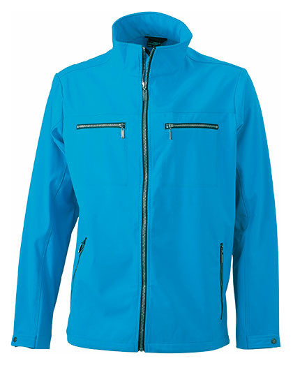 Męska kurtka Tailored Softshell James&Nicholson JN 1058 - Soft-Shell