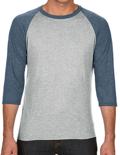 Tri-Blend 3/4 Sleeve Raglan Tee Anvil 6755