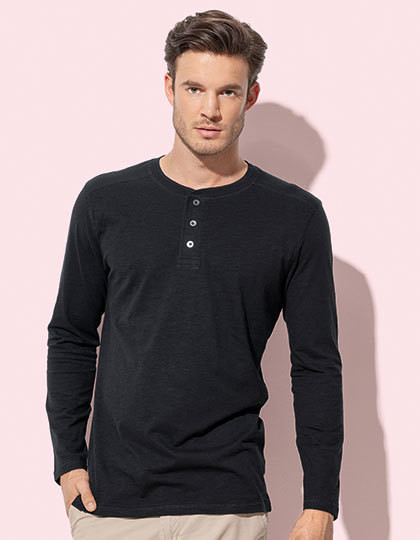 Shawn Long Sleeve Henley T-shirt for men Stedman® ST9460 - Z długim rękawem