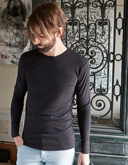 Męski Longsleeve Interlock T-Shirt