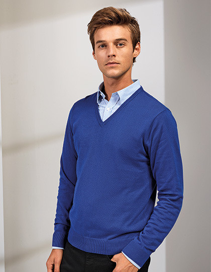 Mens V-Neck Knitted Sweater Premier Workwear PR694 - Swetry męskie