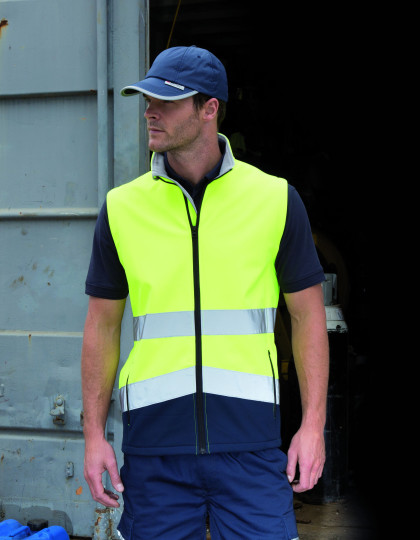 Printable Safety Softshell Gilet Result R451X