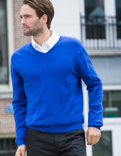 Lightweight V Neck Jumper Henbury H720 - Swetry męskie