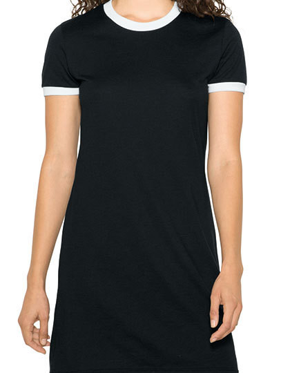 Women`s Poly-Cotton Ringer T-Shirt Dress American Apparel RSABB3274W - Sukienki