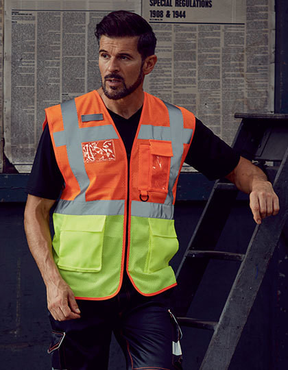 Hi Vis Top Cool Open Mesh Executive Waistcoat YOKO HVW820
